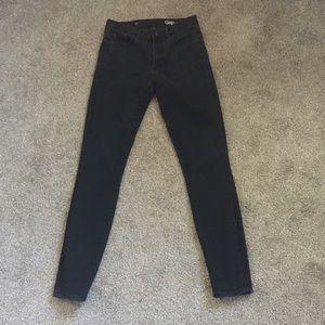 Gap slimming classic black skinny jegging jeans